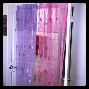 Floral Sequin Curtains
